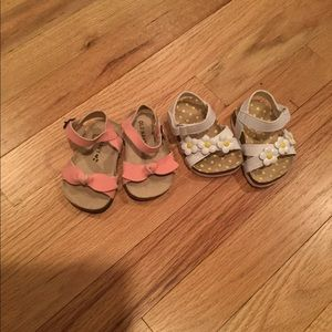 Baby girl sandals 0-3 Months floral shoes bow